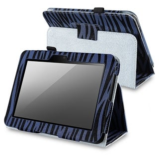 BasAcc Blue Zebra Leather Stand Case for Amazon Kindle Fire HD 7-inch