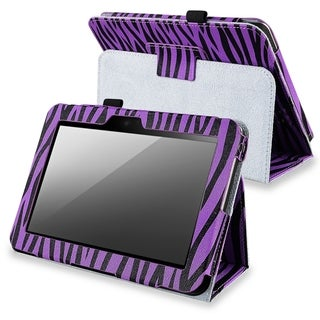 BasAcc Purple Zebra Leather Case for Amazon Kindle Fire HD 7-inch
