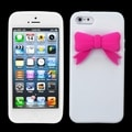 BasAcc White/ Pink Bow Case for Apple iPhone 5/ 5G