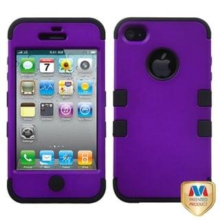 BasAcc Grape/ Black TUFF Hybrid Case for Apple iPhone 4/ 4S
