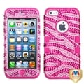 BasAcc Pink Zebra Bling Hybrid Case for Apple iPhone 5