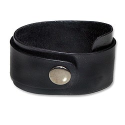 Handcrafted Leather 'Night Explorer' Bracelet (Indonesia)
