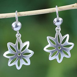 Handcrafted Sterling Silver 'Stars of Hope' Earrings (Ghana)