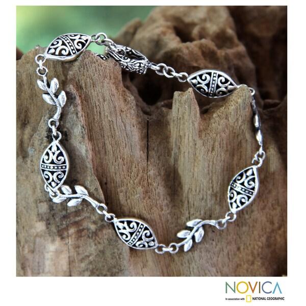 Sterling Silver 'Denpasar Paradise' Bracelet (Indonesia)