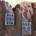 Sterling Silver 'Mythic Garden' Amethyst Earrings (Indonesia)