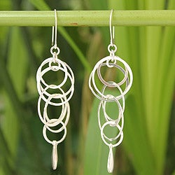 Handcrafted Sterling Silver 'Magic' Earrings (Thailand)