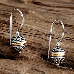 Gold Overlay 'Lampion' Earrings (Indonesia)