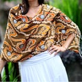Silk 'Kuta Sunset' Batik Shawl (Indonesia)