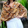 Silk 'Kuta Sunset' Batik Shawl (Indonesia)