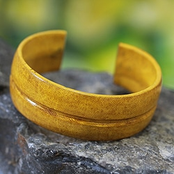 Handcrafted Leather 'Antiri' Bracelet (Ghana)