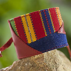 Handcrafted Cotton 'Birth of Grandfather Sun' Bracelet (Guatemala)