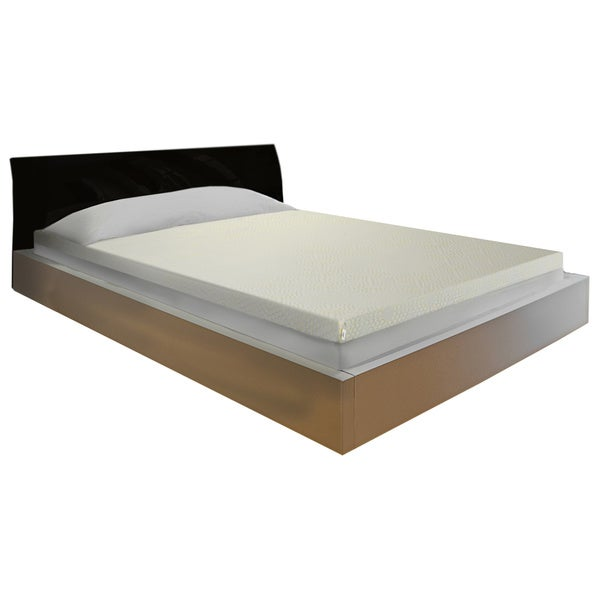 Comfort Dreams Lifestyle Collection Relief 3-inch Gel-infused Memory Foam Topper with Cover