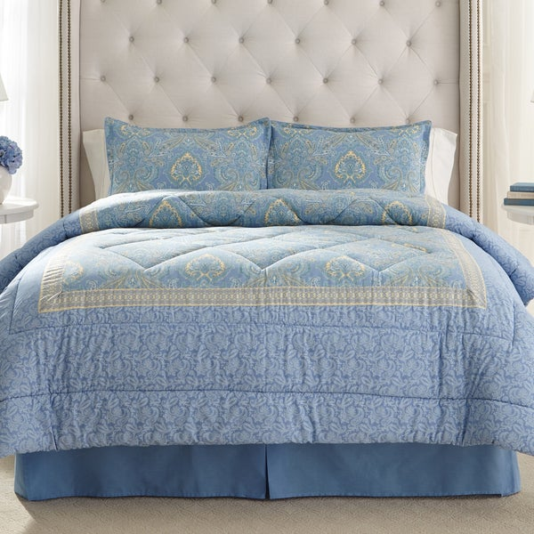 Laura Ashley Prescot Cotton 4-piece Comforter Set