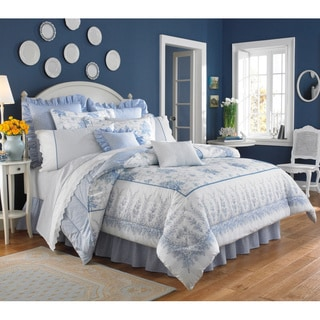 Laura Ashley Sophia Cotton 4-piece Comforter Set