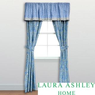 Laura Ashley Prescott Cotton 4-piece Drape Set