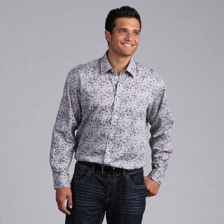 XMI Platinum Men's Printed Motiff Button-front Shirt