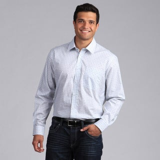 XMI Platinum Men's Printed Geometric Button-front Shirt