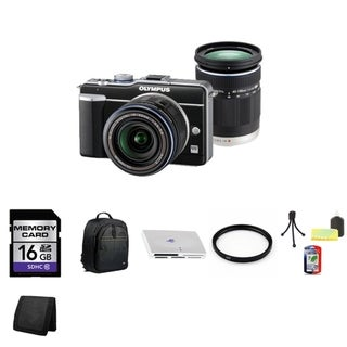 Olympus PEN E-PL1 12.3MP Digital Camera with 14-42mm Lens and 16GB Bundle