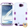 BasAcc White/ Purple TUFF Hybrid Case for Samsung Galaxy Note S II/ S2