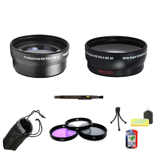 Professional Telephoto Lens & Wide Angle Lens 58mm Bundle 11047320