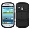 INSTEN Black Armor Phone Case Cover for Samsung i8190 Galaxy S III Mini