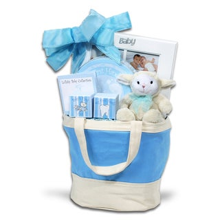 Alder Creek Gift Baskets Baby Blue Keepsake Tote