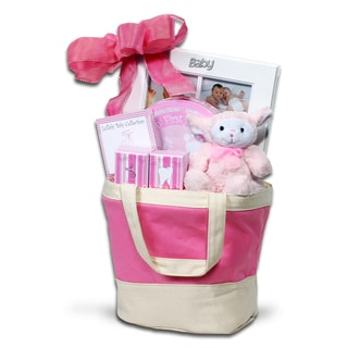 Alder Creek Gift Baskets Baby Pink Keepsake Tote