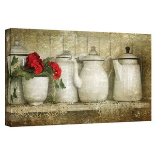 David Liam Kyle 'Flower with Pots' Gallery-Wrapped Canvas