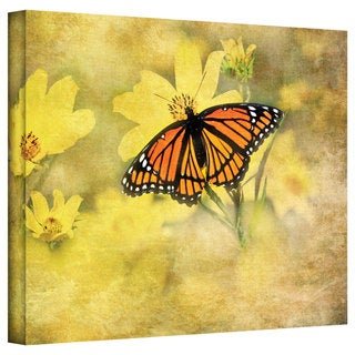 David Liam Kyle 'Butterfly in Yellow' Gallery-Wrapped Canvas
