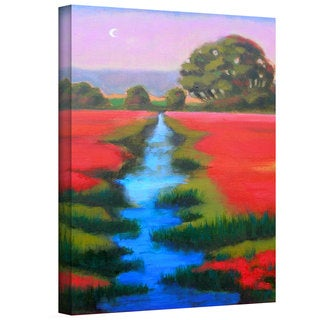 Susi Franco 'Provence Moonrise' Large Gallery-Wrapped Canvas