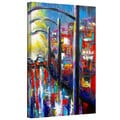Susi Franco '8 O'Clock Street Lights' Gallery-Wrapped Canvas