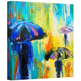 Susi Franco 'Turquiose Rain' Gallery-Wrapped Canvas