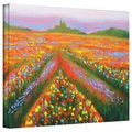 Susi Franco 'Floral Landscape' Gallery-Wrapped Canvas
