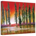 Susi Franco 'Tuscan Cypress Sunset' Gallery-Wrapped Canvas