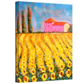Susi Franco 'Cyress and Sunflowers at Vall De Lot' Gallery-Wrapped Canvas
