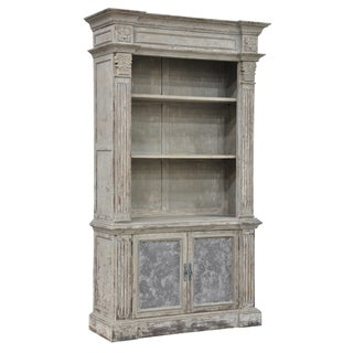 Chael Distressed Pine Bookcase