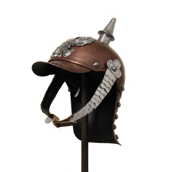 German Antique Pickelhaube Spiked Metal Helmet