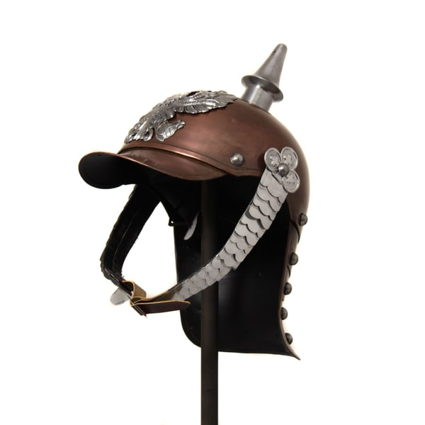 German Antique Pickelhaube Spiked Metal Helmet