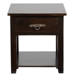 Venice Dark Mahogany Acacia Wood Side Table
