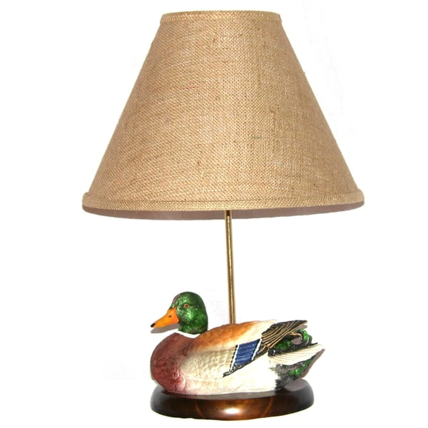 Painted Mallard Duck Table Lamp
