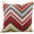Mina Victory Cheveron Multi Pillow 18 x 18-inch Pillow by Nourison