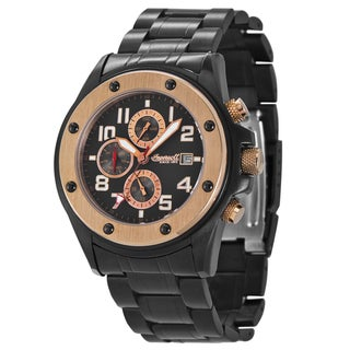Ingersoll Men's 'Harlem' Black/ Rose Goldtone Automatic Watch