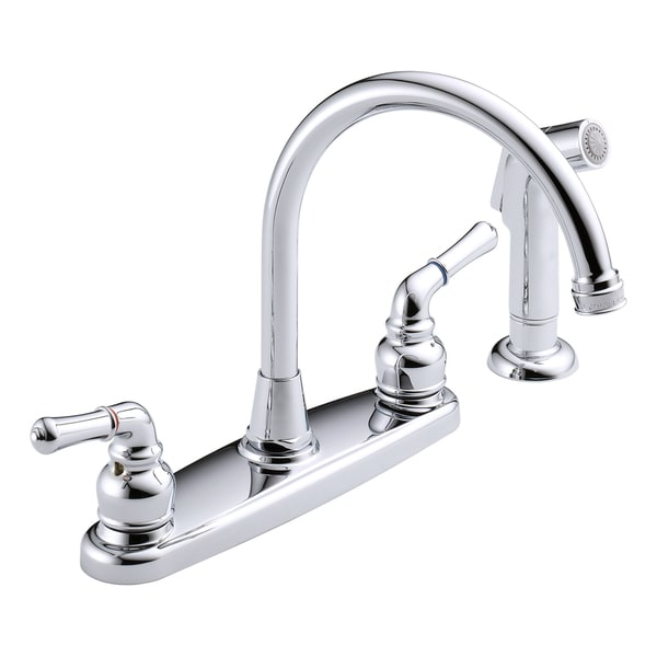 Peerless Chrome Sidespray Two Handle Kitchen Faucet