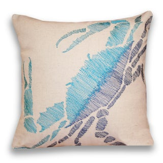 Thro Ombre Crab Decorative Pillow 16 - inch