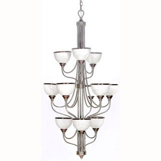 Windsor Brushed Steel 12-light Chandelier
