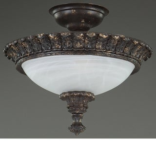 Wilshire Portofino Collection Alabaster Glass Flush Mount
