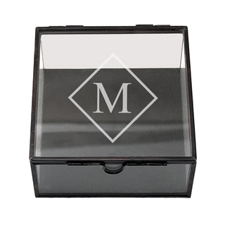 Personalized Square Glass Jewelry Box