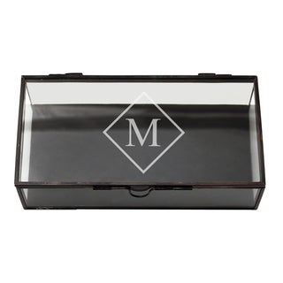 Custom Engraved Rectangle Glass Jewelry Box