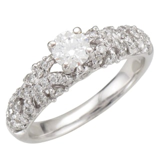14k White Gold 1ct TDW Diamond Lace Engagement Ring (H-I, I1-I2)