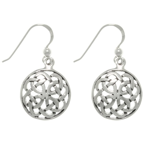 Carolina Glamour Collection Sterling Silver Celtic Journey Knot Earrings
